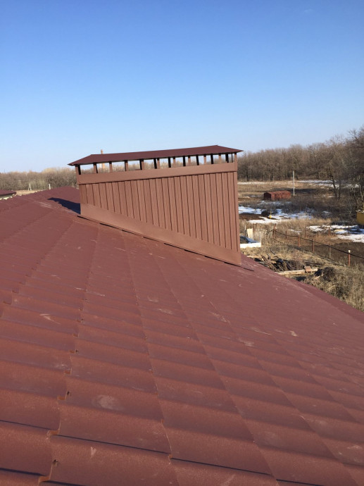 Монтаж двухскатной крыши в двух уровнях